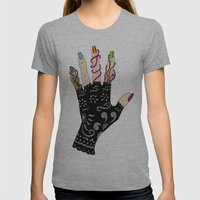 Hand Womens Fitted Tee Athletic Grey SMALL