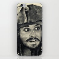 Captain Jack Sparrow ~ Johnny Depp Traditional Portrait Print iPhone & iPod Skin