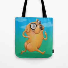 One  Magical Puppy Tote Bag