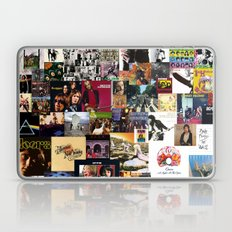 Classic Rock And Roll Albums Collage Laptop & iPad Skin