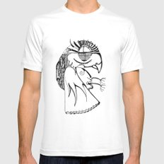 A kind of parrot White Mens Fitted Tee SMALL
