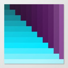 Ups and Down | Deep Within | Purple | Blue | Turquoise Canvas Print