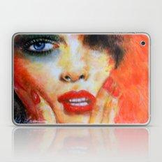 Title: Pastel Portrait - Orange Passion Laptop & iPad Skin