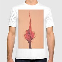 Flaming Tree Mens Fitted Tee White SMALL