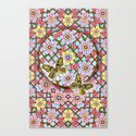 In the Garden of Love Mandala Canvas Print