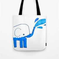 half empty elephant Tote Bag