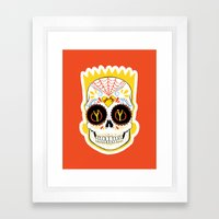 Bart de los Muertos Framed Art Print