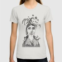Pj Harvey Womens Fitted Tee Silver SMALL