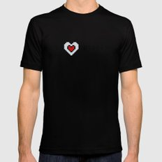 I Love Pixels  Mens Fitted Tee Black SMALL