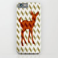 iPhone & iPod Case featuring Woodland Fawn  by Rachel Burbee