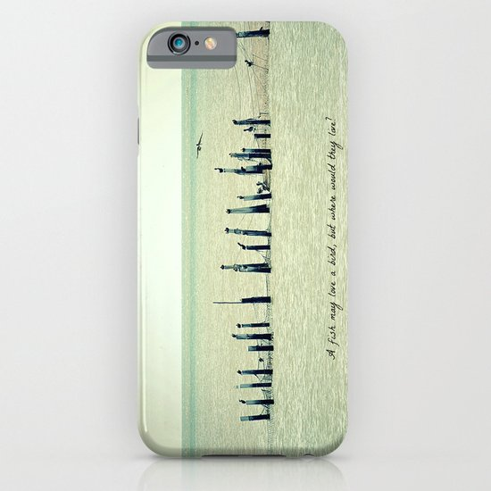 A Fish May Love a Bird... iPhone & iPod Case