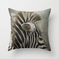 The striped Mohican Throw Pillow