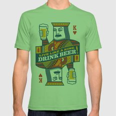 King of Beers Mens Fitted Tee Grass SMALL