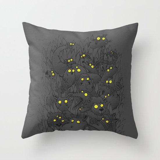 Night Safari Throw Pillow