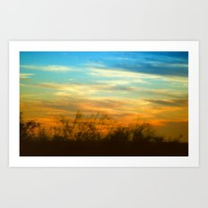 Western Sunset Art Print