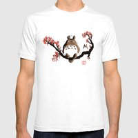 Mon voisin T. Mens Fitted Tee White SMALL