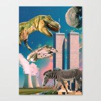 Dino Blaster Canvas Print