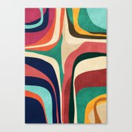 Canvas Print featuring Impossible Contour Map by Budi Kwan