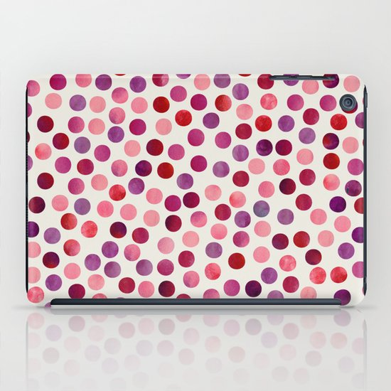 Watercolor Dots_Berry by zJacqueline and Garima iPad Case