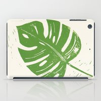 Linocut Leaf iPad Case