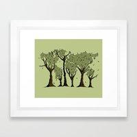 Tree World Framed Art Print