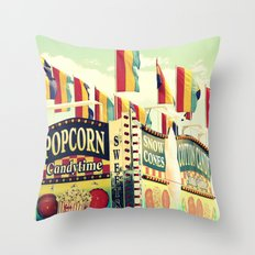 Popcorn Candytime Throw Pillow
