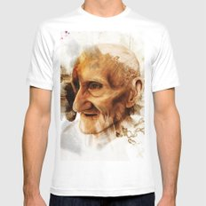 The Old man Mens Fitted Tee SMALL White
