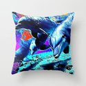 Dolphins 3 Throw Pillow