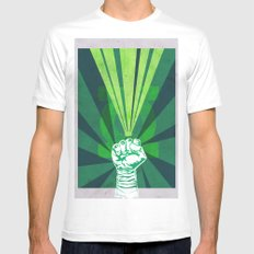 Green Lantern's light SMALL White Mens Fitted Tee