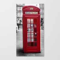 The Iconic London Phoneb… Canvas Print