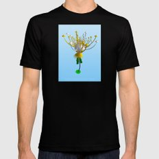 INTERCONTINENTAL BALLISTIC THISTLE Mens Fitted Tee SMALL Black