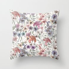 Magical Floral  Throw Pillow