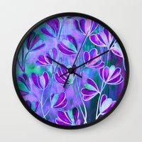 EFFLORESCENCE Lavender P… Wall Clock