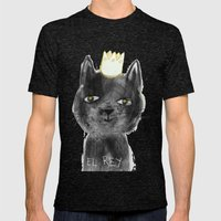 El Rey, The black cat Mens Fitted Tee Tri-Black SMALL