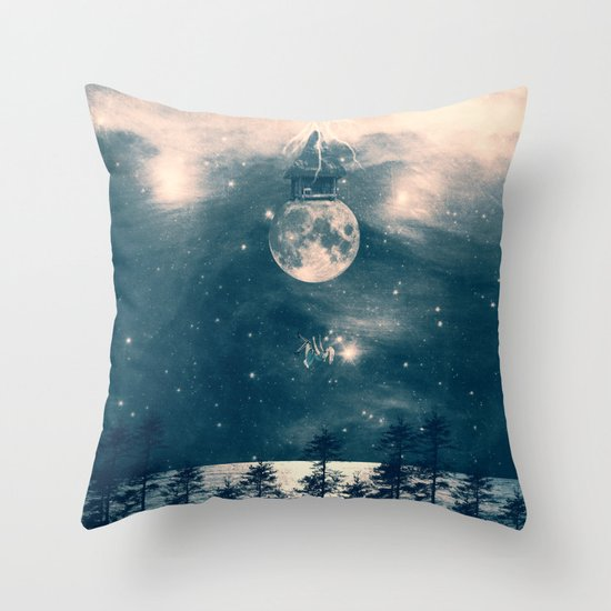 One Day I Fell from My Moon Cottage... Throw Pillow