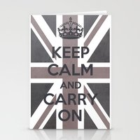 Keep Calm And Carry On U… Stationery Cards