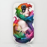 Galaxy S4 Cases featuring Angel of Colors by Artgerm™