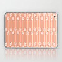 Peach And White Arrows Laptop & iPad Skin