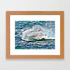 Jet Ski Framed Art Print