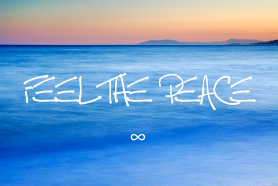 Feel the peace ∞ Art Print
