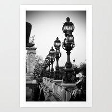 PARIS Alexandre III bridge Art Print