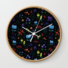 Magical berries Wall Clock