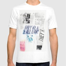 LIARS Mens Fitted Tee White SMALL