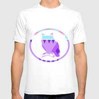Aztek Owl Mens Fitted Tee White SMALL