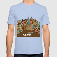 Town Pattern #2 Mens Fitted Tee Tri-Blue SMALL