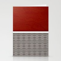 Red And Grey Graphic Stationery Cards
