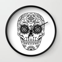 Deco Sugar Skull 2 Wall Clock