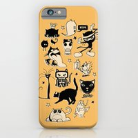 iPhone & iPod Case featuring Cat Menagerie by Rachel Caldwell