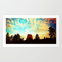 Devils Tower Art Print