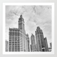 Chicago Iconic Wrigley Building Art Print